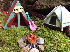 Miniature camping fire campfire for fairy garden