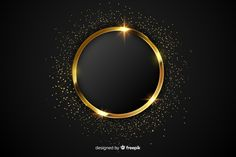 Gold and black background design Vector Gold And Black Background, Black Background Design, Gold Glitter Background, Luxury Background, Waves Background, Background Design Vector, Frame Background, Vector Design, Pattern Background