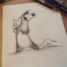 Cartoonist and Designer Cartoon Rat, Pet Rats, Creature Design, Animal Drawings, Aesthetic Anime, Character Design, Creatures, Concept, Animales
