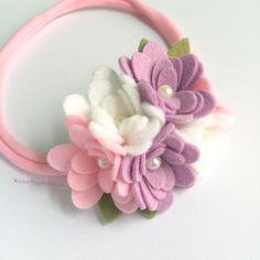 Felt Flower Headband - Pastel Cluster Felt Flower Crown