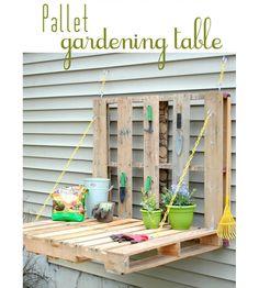 DIY Wood Pallet Gardening Table
