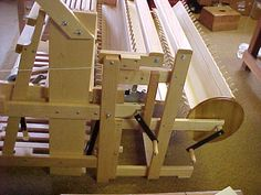 The Gilmore Floor Loom is a strong maple weaving loom for the beginner or the professional weaver. Made in 4 or 8 harness styles and in weaving widths of 26 Weaving Tools, Loom Weaving, Maple Floors, So Little Time, Flooring, Loom, Maple Wood Flooring, Wood Flooring, Loom Knitting