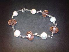 Bracciale con perle e cristalli by Bigiotteria che Passione!!