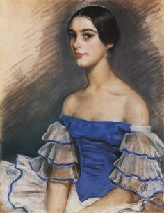 Zinaida Evgenievna Serebriakova Portrait Of N. Geidenreich In Blue Oil Painting Reproductions for sale Oil Painting For Beginners, Painting Videos, Art Deco, Oil Painting Reproductions, Oil Painting Abstract, Painting Trees, Painting Flowers, Figure Painting, Russian Art