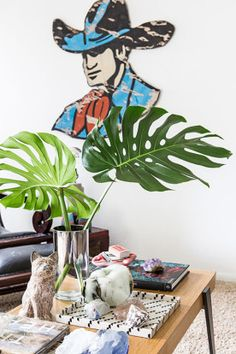 Homepolish Interior Design | We love Duffy's eclectic collection of weird, cool and often-vintage items. This cowboy hanging on the wall, for example. He's bizarre and brilliant and Duffy found him on the side of the road.