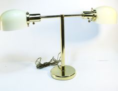 Walter Von Nessen T Bar Mid Century Lamps - perfect for side tables and two are available
