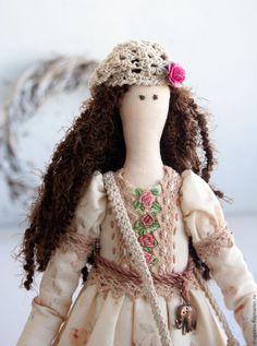 Купить Кукла тильда Вероника, текстильная кукла, интерьерная кукла - бежевый, тильда, тильда кукла