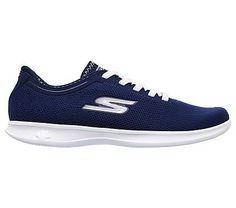 Skechers Women's GO Step Lite Swerve Slip On Sneakers (Navy)