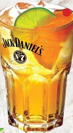 Lynchburg Lemonade Recipe ~ Jack Daniels, Triple Sec, Lemonade, Maraschino Cherries, And a Lime