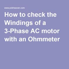 Single phase capacitor sizing jumping castles for How to check 3 phase motor