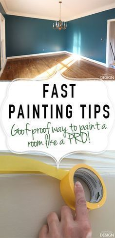 Want to paint like a pro? Check out these fast painting tips (like using @frogtape for your projects) and learn how to make each paint project in your home look as though it were done by a professional.