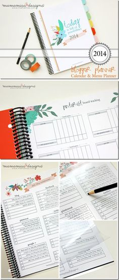 2014 Blogger Planner, Calendar, and Menu Planner *I've heard from other bloggers that this set is AMAZING