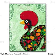 Typical #Rooster of #Barcelos Postcard | Sold to Romania!! Thank you to the customer!! :)