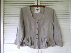 Romantic Linen Shrug upcycled clothing by lillienoradrygoods, $59.50