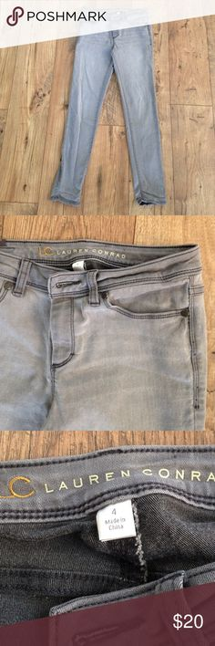 LC Lauren Conrad grey jeggings Only worn a few times. They have a nice stretch to them. Super comfortable. LC Lauren Conrad Jeans Skinny