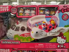 "so cute!  Hello Kitty ""little people"" airplane."