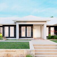 Home Exterior Design Ideas & House Style Boards | Hallmark Homes Build Your Own House, Build Your Dream Home, First Home Owners, Large Open Plan Kitchens, Double Storey House, Hallmark Homes, House Construction Plan, Sims House Plans, Home Design Floor Plans