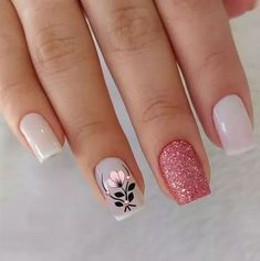 Manicure Pedicure, Mani Pedi, Nail Art Printer, Nail Arts, Toe Nails, Glitter Nails, Finger, Nail Designs, Hair Beauty