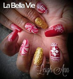 Festive Nails Leigh Ann, Festive, Hair Beauty, Nails, Finger Nails, Ongles, Nail, Cute Hair