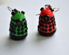 Daleks earrings dalek doctor who geek jewellery by MadCoookies Geek Jewelry, Jewellery, Unique Jewelry, Dalek, Doctor Who, My Etsy Shop, Geek Stuff, Cookies, Christmas Ornaments