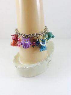 Rainbow Pokemon Theme Charm Bracelet OOAK by RainbowCastle
