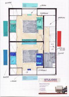 Ga je aan de slag met het inrichten van je zolderkamer? In onderstaand voorbeeld zijn hier 2 slaapkamers en een badkamer van gemaakt maar je kunt er natuurlijk ook een werkkamer, televisiekamer, speelkamer of welnessruimte van maken. Dit is afhankelijk van de wensen van de bewoner(s). Benieuwd hoe een interieurontwerp en kleuradvies van STIJLIDEE eruit kan … via www.stijlidee.nl