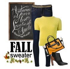 """Early Fall sweater"" by juliehooper ❤ liked on Polyvore featuring Frame Denim, Marni, Coach, Maison Margiela and MANGO"