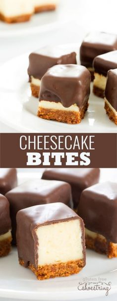 Cheesecake bites are nothing more than little chocolate-covered bites of creamy cheesecake. No special equipment and no water bath needed, since chocolate covers all.(Keto No Baking Cheesecake) Just Desserts, Delicious Desserts, Yummy Food, Healthy Food, Awesome Desserts, Yummy Dessert Recipes, Healthy Hair, Amazing Deserts, Creative Desserts