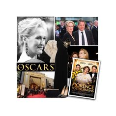 """The Oscars: Meryl Streep"" by pianogirlzoe ❤ liked on Polyvore featuring Antonio Berardi, Christian Louboutin, RedCarpet, Oscars, MerylStreep and florencefosterjenkins"