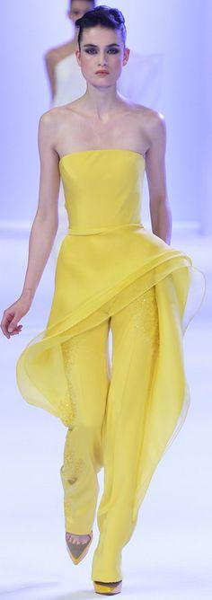 Stéphane Rolland SS 2014 #jaune ~ Colette Le Mason @}-,-;---