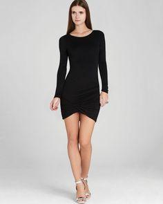 Bcbgmaxazria Dress - Abby Draped Jersey