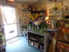 display of fresh flowers in our shop