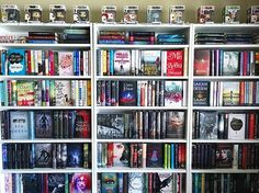 Shelfie.  #celineannajillmarch16 --- I will never grow tired of this view, but please let me know if you do. ☺️ --- #bookshelf #bookshelfie #bookshelves #shelfie #mylibrary #bookstagrammer #funko #funkopop #bookphotochallenge