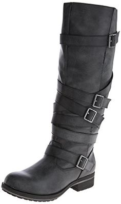 Madden Girl Women's Lilith Motorcycle Boot,Black,7 M US