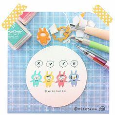 消しゴムはんこ mizutama | Eraser | hand carved rubber stamps もっと見る