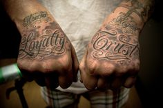 hands tattoo