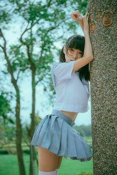 Asian Cute, Cute Asian Girls, Cute Girls, Cool Girl, School Girl Outfit, School Uniform Girls, Girl Outfits, Beautiful Japanese Girl, Beautiful Asian Girls