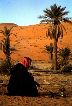 Saudi Arabia  Preparing morning coffee by J lewis