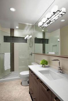 Modern Bathroom Vanity Lighting furniture modern bathroom vanity lighting fixtures with double clearance bathroom vanities and double rectangular undermount Bathroom Interior Large Frameless Wall Mirror With Cast