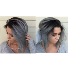 Ombre black to grey