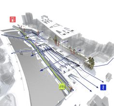 The Flinders Street Station Winning Proposal / Eduardo Velasquez + Manuel Pineda + Santiago Medina A great diagram