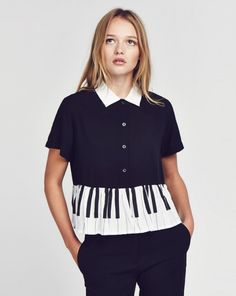 Lazy Oaf Piano Shirt - Clothing - NEW IN - Womens