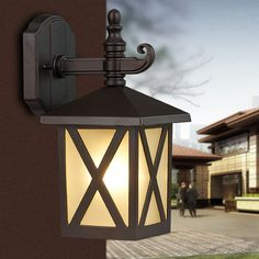 79.87$  Buy here - http://ali05l.worldwells.pw/go.php?t=32371998590 - Fashion garden balcony wall lamp outdoor waterproof lamp