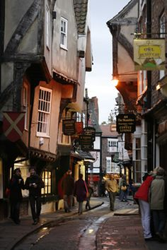 The shambles - one of the oldest streets in the UK. See how straight they are?