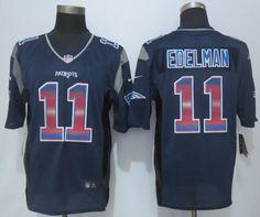 31894bb9c08 2015 New Nike New England Patriots 11 Edelman Navy Blue Strobe Limited  Jersey