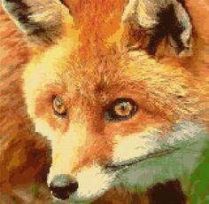 Cross Stitch | Fox xstitch Chart | Design