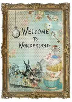 1 Alice in Wonderland Floral Quote #2 Print  Gifts,Home,Party