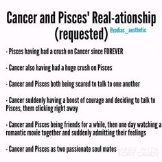 Cancer male and pisces female