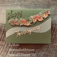 Quite Curvy Thanksgiving Card - Aromas and Art