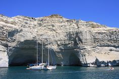 Greece !  The beautiful island of Milos, on a stop we make on our day catamaran sail around the island.